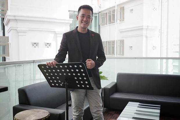 Voices of Singapore, led by founder and artistic director Darius Lim (above), was likely one of the first choirs to hold virtual practices. Those weekly sessions have become a source of comfort for many through this pandemic.ST PHOTO JASON QUAH