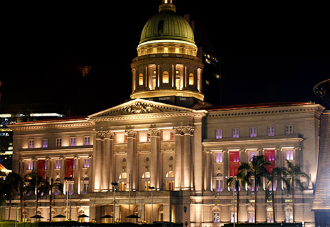 National Gallery Singapore Glows in Pink to Support Breast Cancer Awareness